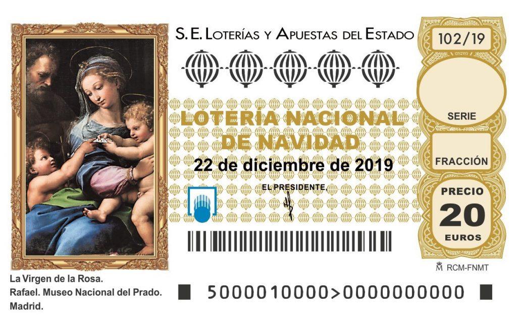 décimo de lotería de navidad